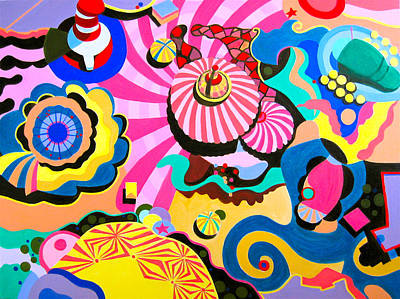 Amusement Parks Painting - Carnival by Toni Silber-Delerive