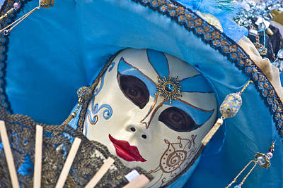 Photograph - Carnival Venice Italy by Indiana Zuckerman