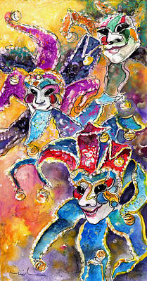 Painting - Carnivale In Taormina 02 by Miki De Goodaboom