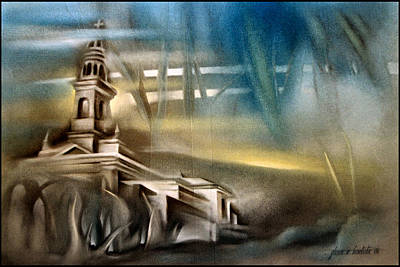 Painting - Carnota Cathedral 2006 by Glenn Bautista