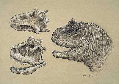 Carnotaurus Art Print by Science Photo Library