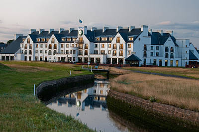Photograph - Carnoustie Clubhouse End Of Day by Sally Ross