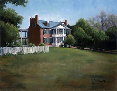 Historic Franklin Tennessee Painting - Carnton Plantation In Franklin Tennessee by Janet King
