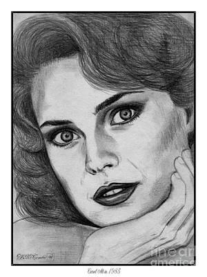 Playboy Drawing - Carol Alt In 1985 by J McCombie