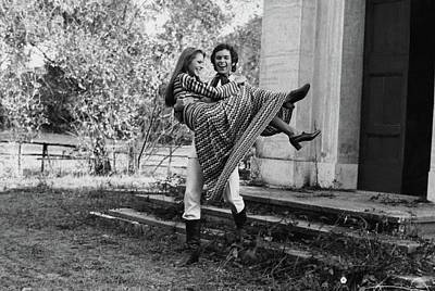 Missoni Photograph - Carol Andre In Missoni Carried By A Man by Henry Clarke