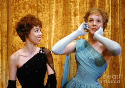 Julie Photograph - Carol Burnett And Julie Andrews At Carnegie Hall 1962 by The Harrington Collection