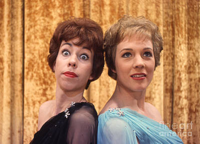 Julie Photograph - Carol Burnett And Julie Andrews Carnegie Hall 1962 by The Harrington Collection