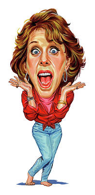 Caricature Painting - Carol Burnett by Art