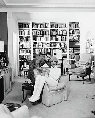 Photograph - Carol Channing With Her Son Channing Lowe by John Rawlings