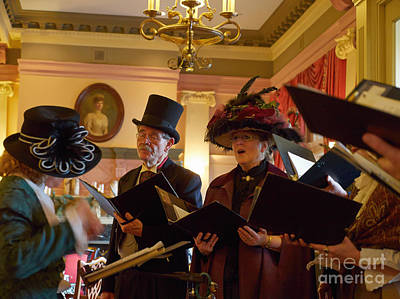 Christmas Song Photograph - Carol Singers At Christmas by Louise Heusinkveld