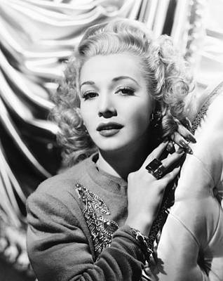Cocktail Ring Photograph - Carole Landis, Ca. Early 1940s by Everett