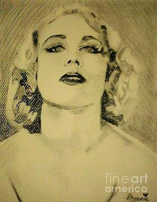 Drawing - Carole Lombard #3 by Bonnie Cushman