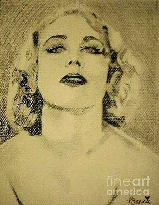 Drawing - Carole Lombard #3 by Bonnie Cushman