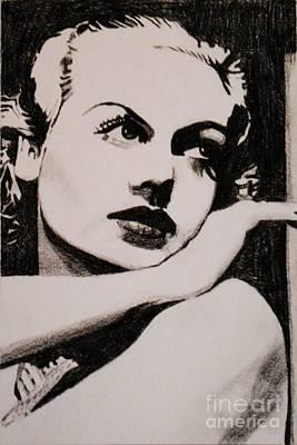 Drawing - Carole Lombard  by Bonnie Cushman