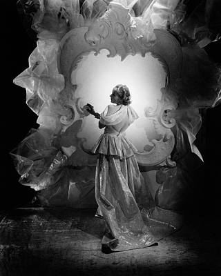 Actress Photograph - Carole Lombard On A Movie Set by George Hoyningen-Huene