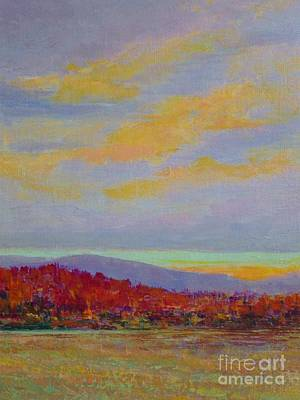 Painting - Carolina Autumn Sunset by Gail Kent