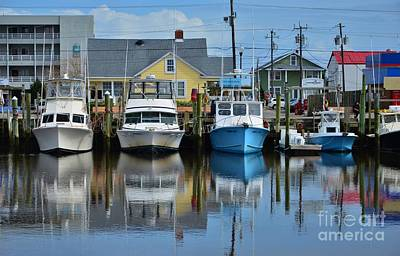 Photograph - The Marina At Carolina Beach Nc by Bob Sample