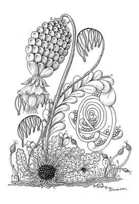 Olivia Drawing - Carolina Bog by Olivia H Keirstead