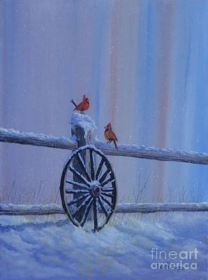 Painting - Carolina Cardinals by Bob Williams