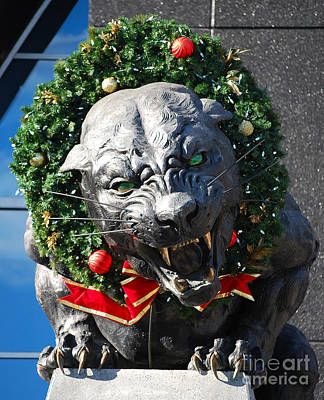 Photograph - Carolina Christmas Panther by Mark Spearman