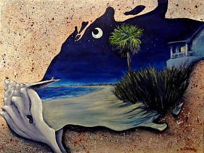 Family Beach Wedding Wall Art - Painting - Carolina Conch by Heather  Gillmer