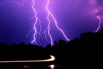 Storm Digital Art - Carolina Electrical Storm by Mike McGlothlen
