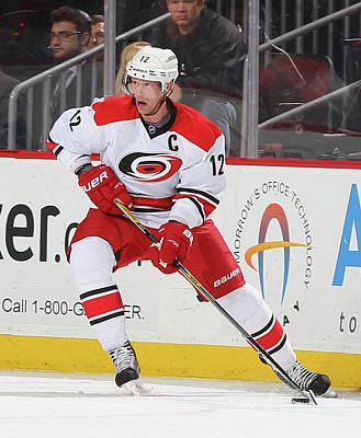 Photograph - Carolina Hurricanes V New Jersey Devils by Andy Marlin