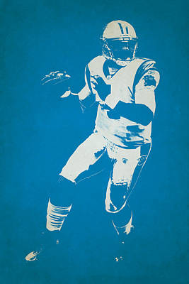 Cam Newton Photograph - Carolina Panthers Shadow Player by Joe Hamilton
