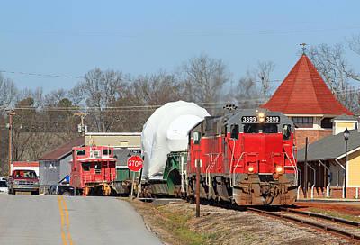 Photograph - Carolina Piedmont Ge Turbine Train by Joseph C Hinson Photography
