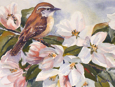 Painting - Carolina Wren by Janet Zeh