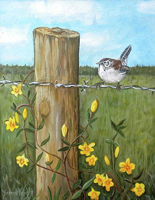 Carolina Wren Painting - Carolina Wren by Yvonne Knight
