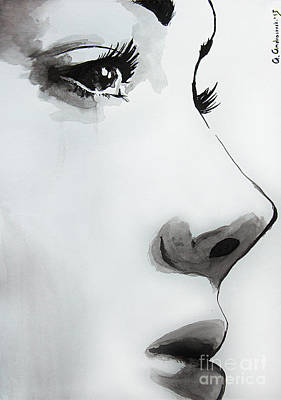 Drawing - Caroline by Anna Androsovski