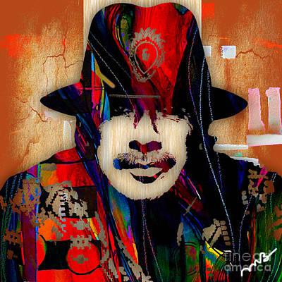 Carolos Santana Collection Art Print by Marvin Blaine