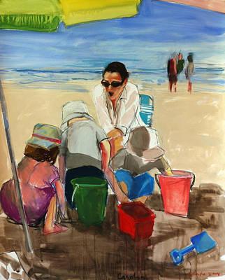 Sand Castles Mixed Media - Carolyn by Daniel Clarke
