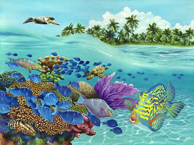 Coral Carnival Art Print by Carolyn Steele