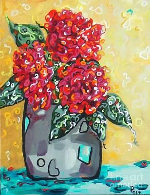 Painting - Carolyn's Roses by Deborah Glasgow