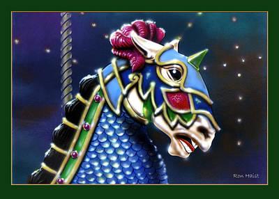 Carosel Horse Art Print