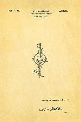 Carothers Nylon Patent Art 1937 Art Print