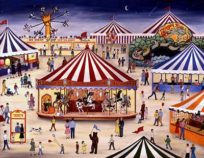 Carousel 90 Art Print by Linda Mears