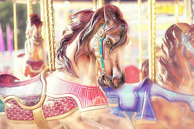 Little Girls Photograph - Carousel  by Amy Tyler