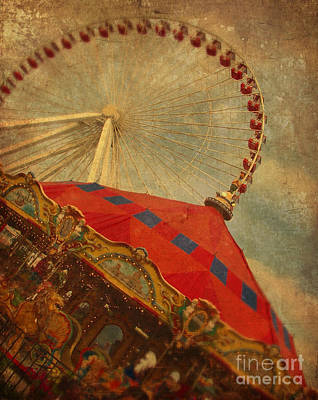 Photograph - Carousel And Ferris Wheel by Jill Battaglia