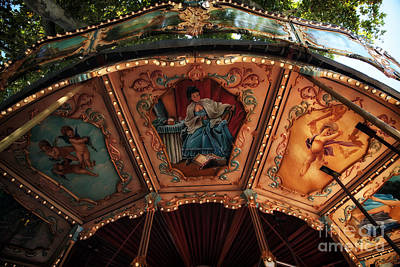 Photograph - Carousel Art by John Rizzuto