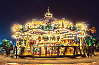 Photograph - Carousel At Night by Alex Grichenko