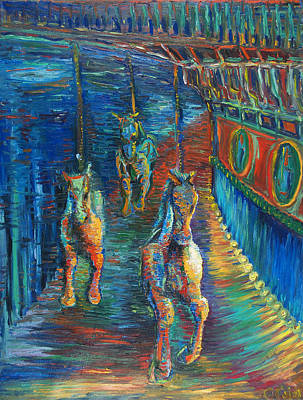 Carousel At Night Original by Christine Cobden