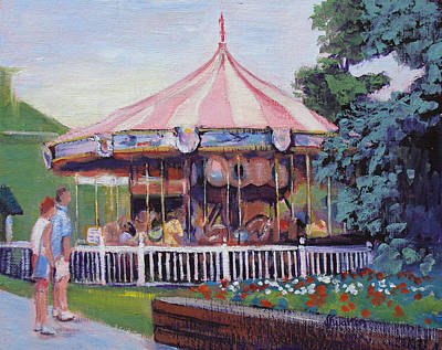 Painting - Carousel At Put-in-bay by Judy Fischer Walton
