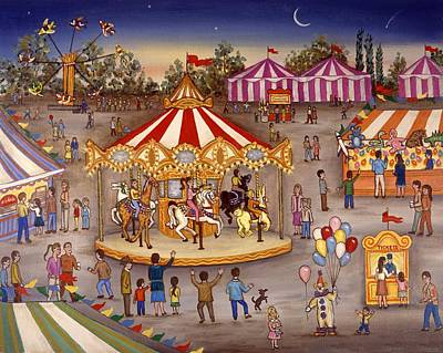 Carousel At The Carnival Art Print