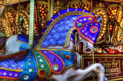 Photograph - Carousel Beauty Prancing by Bob Christopher