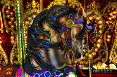 Carousel Beauty Waiting For A Rider Print by Bob Christopher