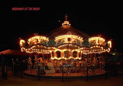 Carousel - Broadway At The Beach - Myrtle Beach Sc Art Print by Dianna Jackson