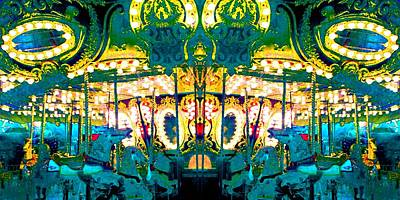 Photograph - Carousel Convergence by Marianne Dow